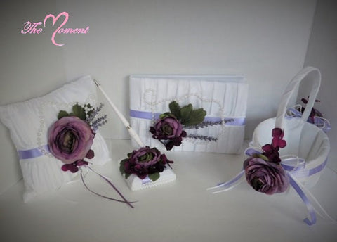 Purple Wedding Flower Basket