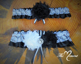 White Camo Garter with Black