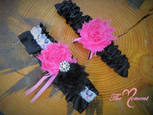 "Load image into Gallery viewer, Deer Antler Garter, Hot pink Garter, ""Save a Rack"" Garter"