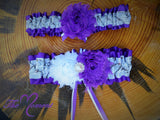 White Camo Garter with purple