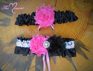 "Deer Antler Garter, Hot pink Garter, ""Save a Rack"" Garter"
