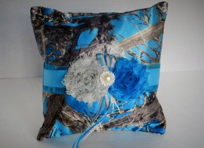Blue Camo Ring Bearer Pillow