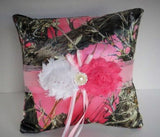 Pink Camo Ring Bearer Pillow