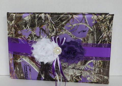 Purple Camo Guest Book