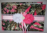 Pink Camo Guest Book