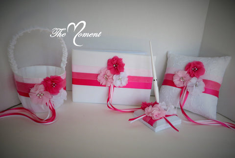 Pink and white Wedding Set