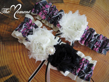 Load image into Gallery viewer, Camo Garter, Bridal Garter, Wedding Garter, Muddy Girl