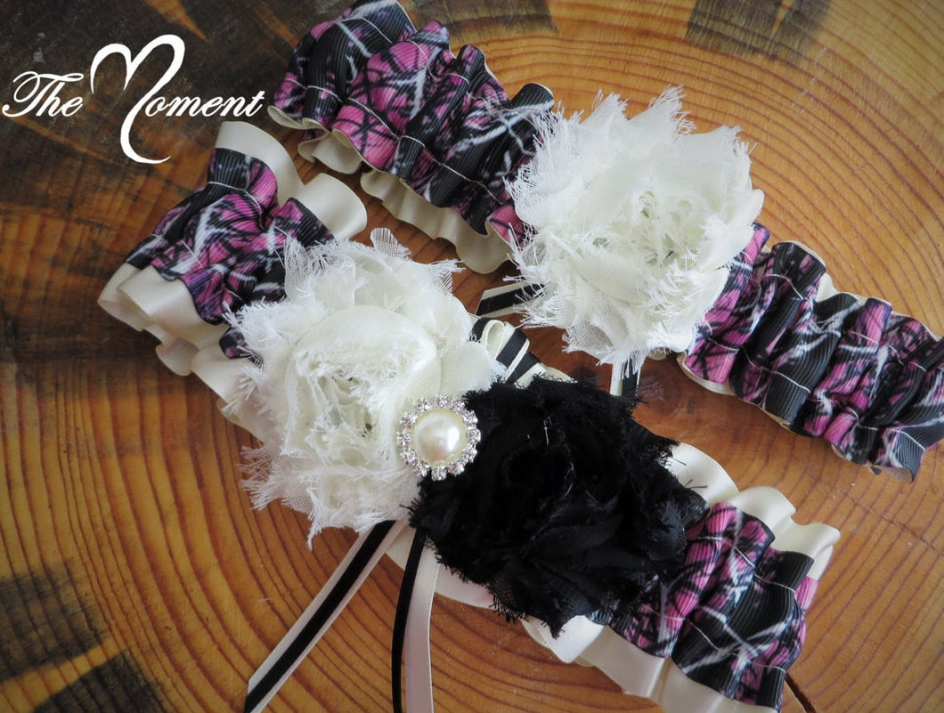 Camo Garter, Bridal Garter, Wedding Garter, Muddy Girl