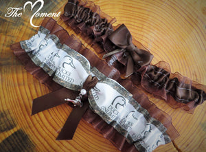 Brown Camo Garter, Duck Garter