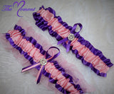 Pink and Purple Garter Set