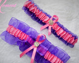 Purple and Pink Garter Set