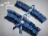 Navy Blue Garter Set
