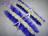 Purple and Ivory Garter Set