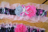 Muddy Girl Garter with Pink, bridal garter, muddy girl garter, prom garter, Camo Wedding