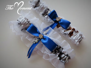 d7d3c12100e White Camo Garter Set with Royal Blue – The Moment Wedding Boutique