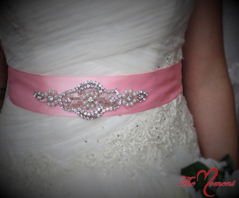 Pink Dress Sash, Pick your color