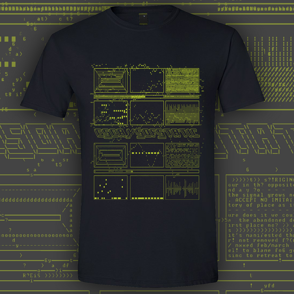 ASCII GREEN BLACK T-SHIRT