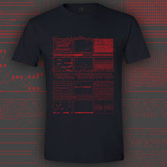 ASCII RED BLACK T-SHIRT