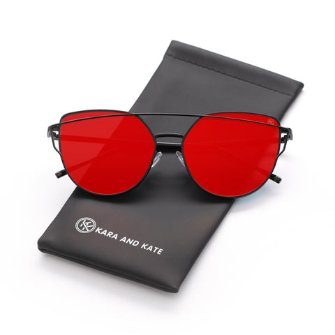 Red Mirrored Sunglasses