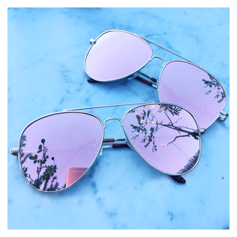 Rose Gold Mirrored Sunglasses - Kara and Kate