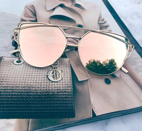 f4a2c75ab63ad Rose Gold Mirrored Sunglasses – Kara and Kate