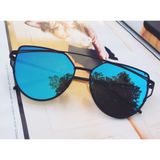 Blue Mirrored Sunglasses