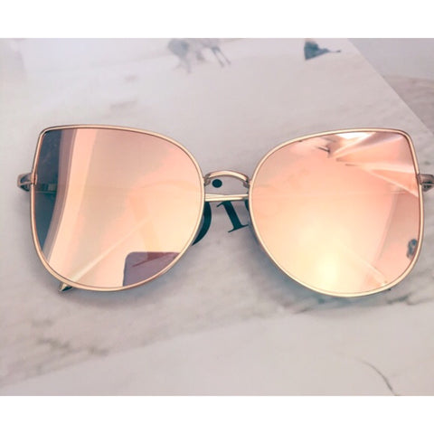 Rose Gold Cat Eye Sunglasses - Kara and Kate