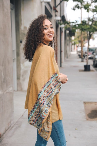 Embroidered Sleeve Kimono - Kara and Kate