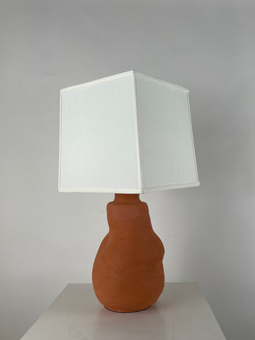 Terra-Cotta Sculptured Lamp