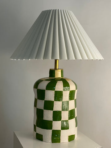 Green Checkered Lamp