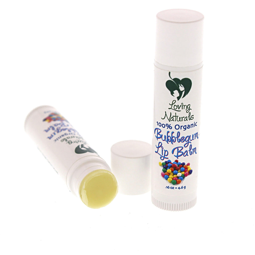 100% Organic Bubblegum Lip Balm .16 Ounce (3 Pack)
