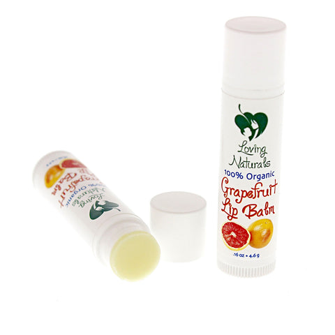 100% Organic Grapefruit Lip Balm .16 Ounce (3 Pack)