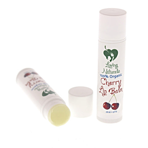 100% Organic Cherry Lip Balm .16 Ounce (3 Pack)