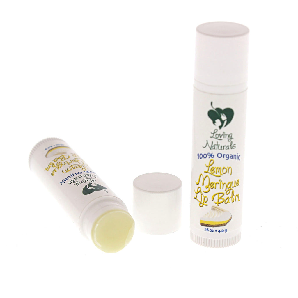100% Organic Lemon Meringue Lip Balm .16 Ounce (3 Pack)