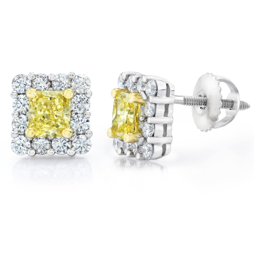 Natural Fancy Yellow Diamond Earrings - David Gross Group