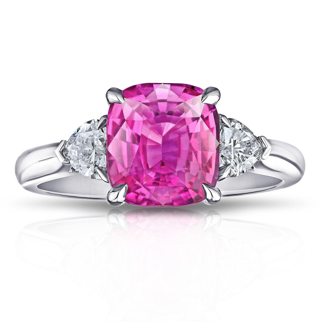 3.38 Carat Pink Sapphire Ring - David Gross Group