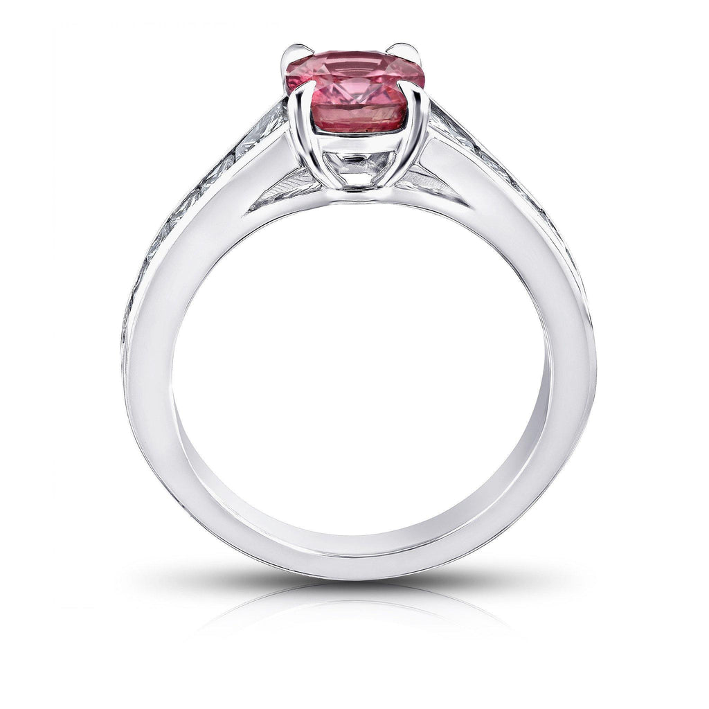 1.88 Carat Pink Padparadscha Sapphire Ring - David Gross Group