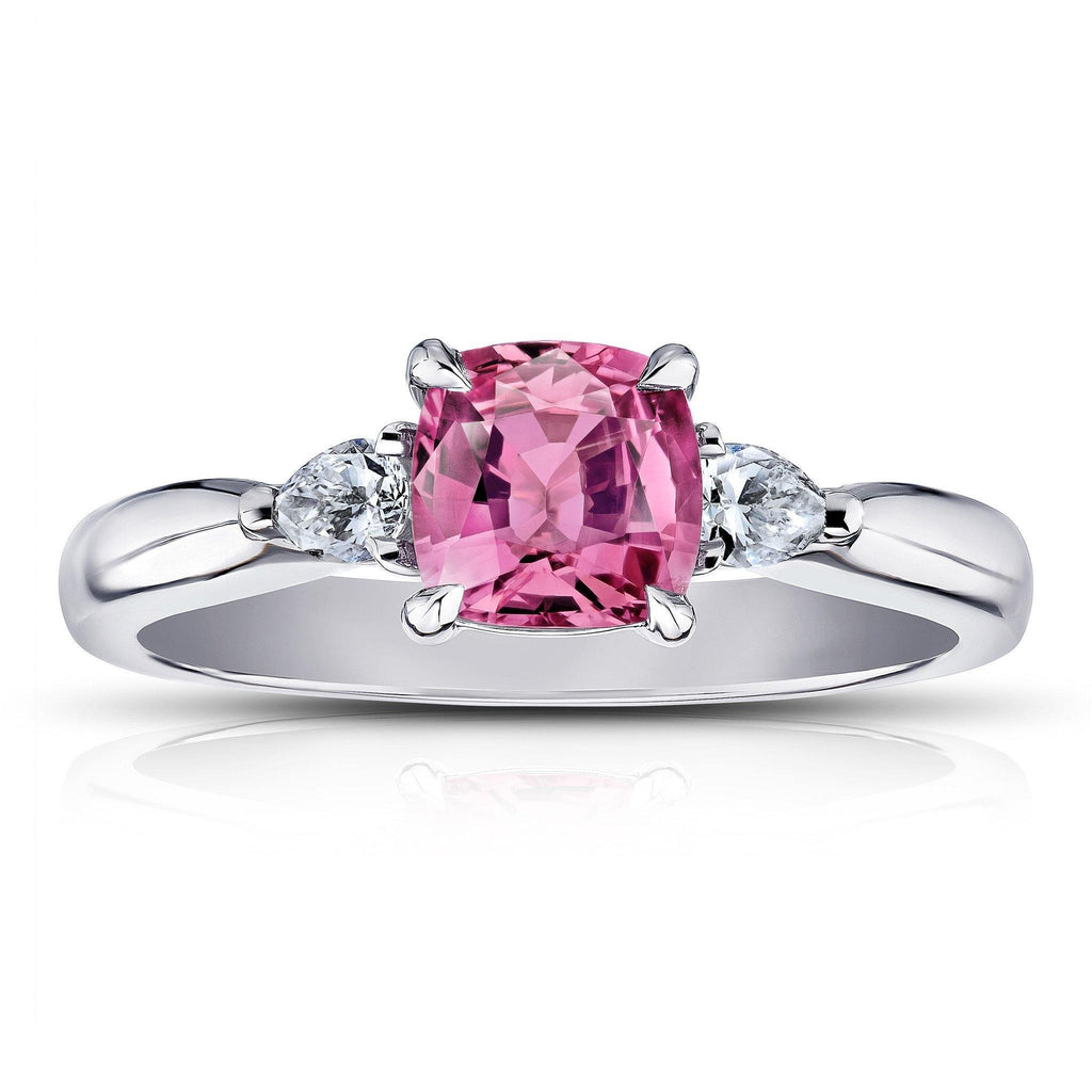 1.16 Carat Padparadscha sapphire and Diamond Ring - David Gross Group