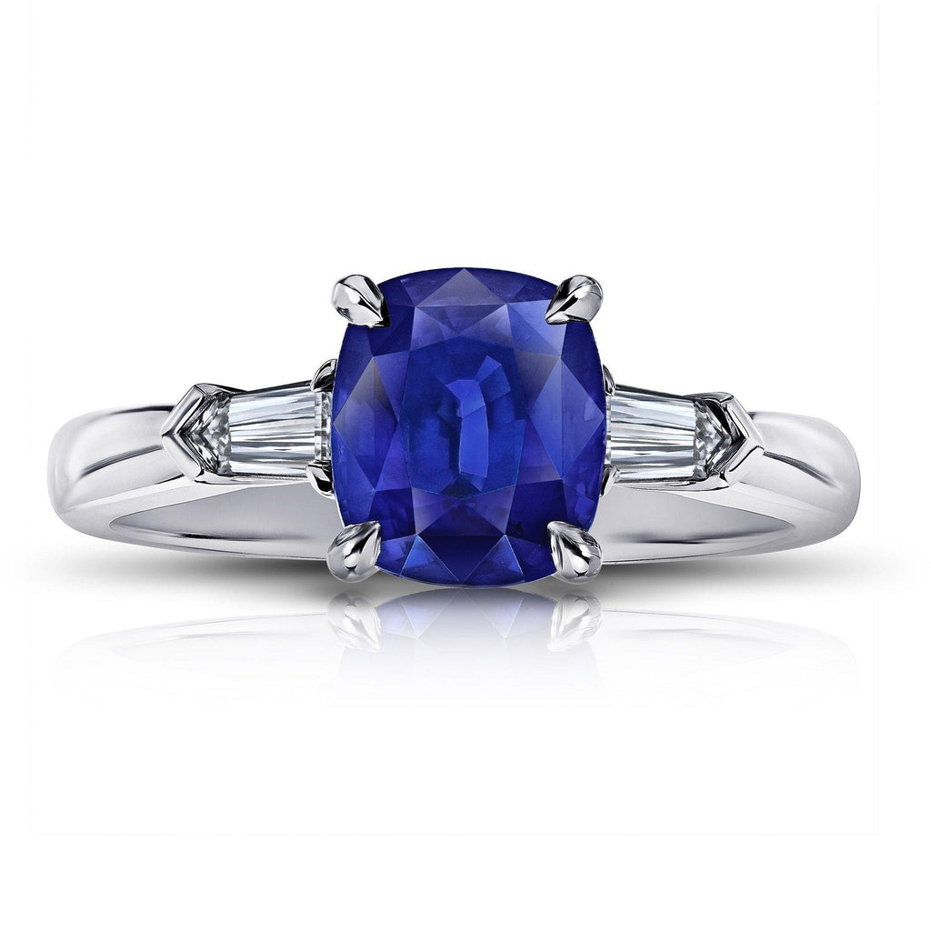 3.07 Carat Blue Sapphire Ring - David Gross Group