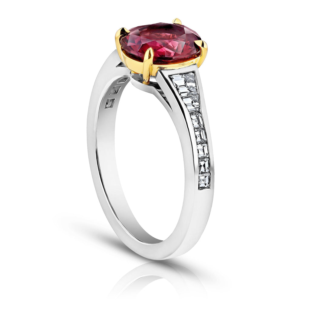 2.00 Carat Oval Red Spinel and Diamond Ring - David Gross Group