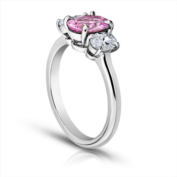 1.33 Carat Pink Sapphire and Diamond Ring - David Gross Group
