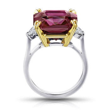14.61 Carat Radiant Cut Purple Spinel and Diamond Ring - David Gross Group