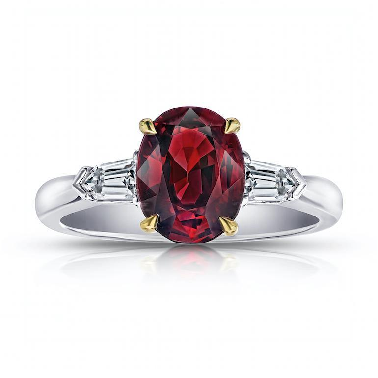 2.54 Carat Oval Red Spinel And Diamond Ring - David Gross Group