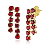 10.16 carat Cushion Ruby Drop Earrings - David Gross Group