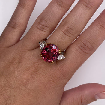 15.13 Carat Oval Red Spinel Ring - David Gross Group