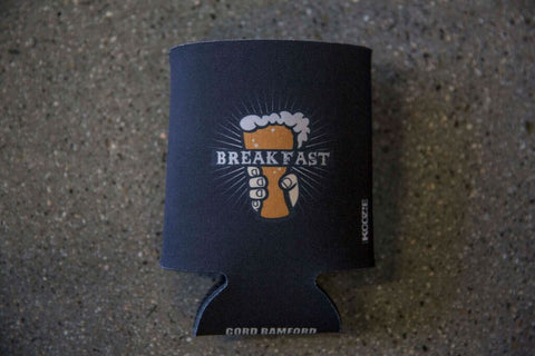 Black Breakfast Beer Koozie