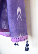 Buti allover ikat sambalpuri odisha tassels  embroidery narrow scarf headgear cotton light summer wear