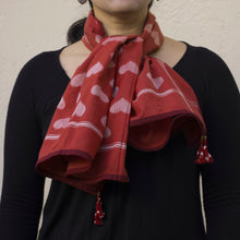 Taash hearts ikat square scarf
