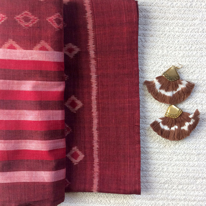 Taash Red Ikat Gift Set