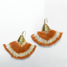 Jemima Orange Ikat Earrings